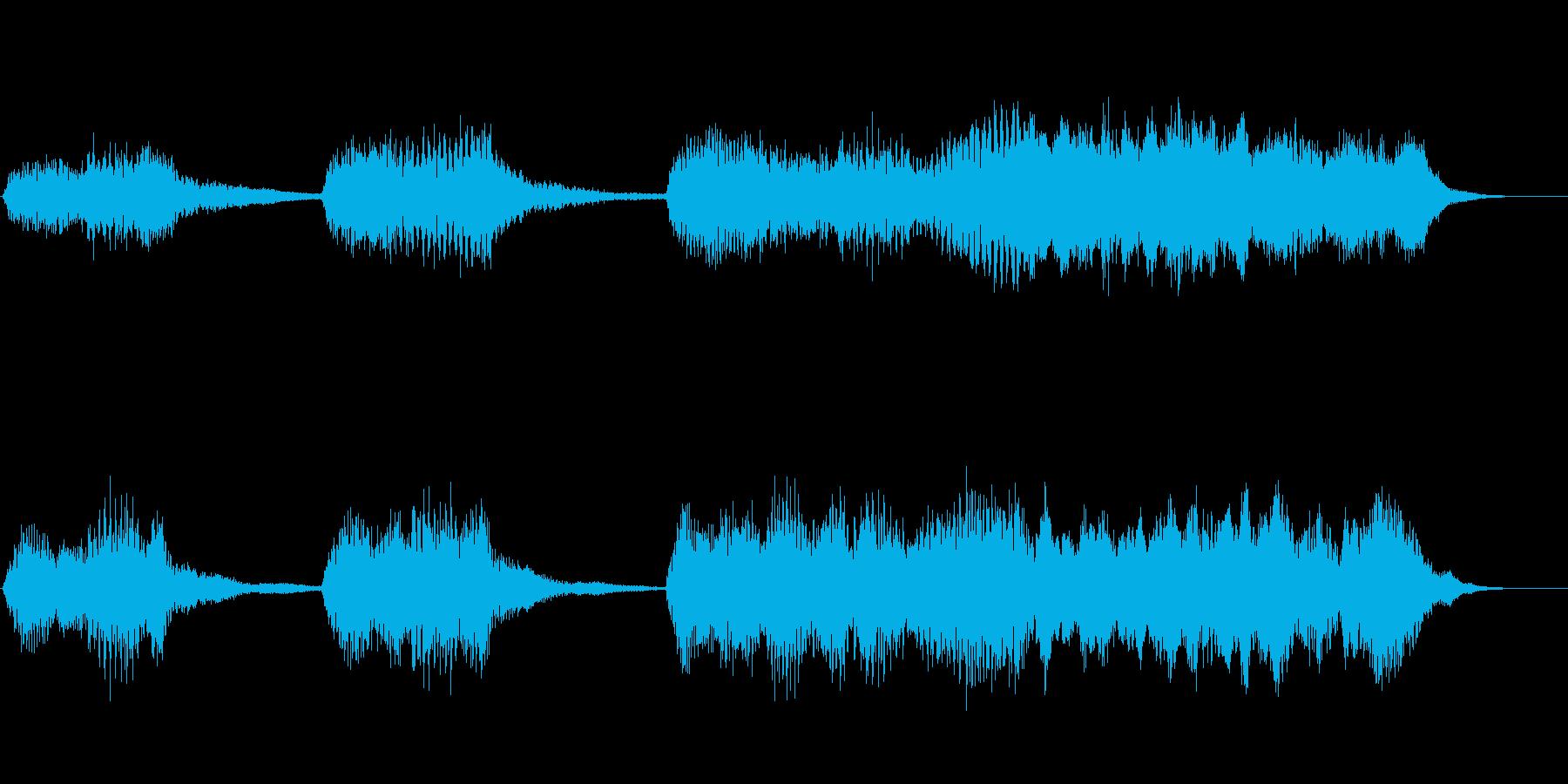 ハロウィン系 ホラーな雰囲気のジングルの再生済みの波形