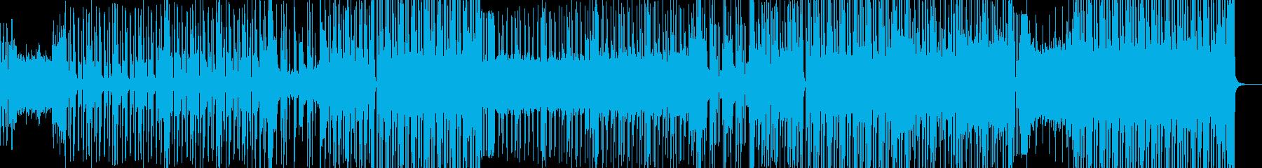 ブルーのLEDテイストのヒップホップの再生済みの波形