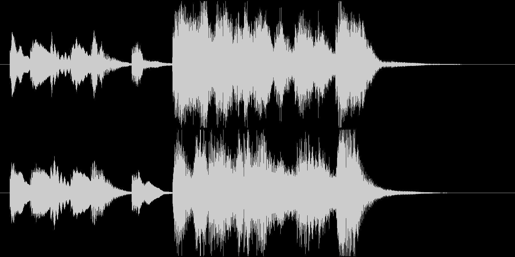 ほのぼの明るいアコースティック系ジングルの未再生の波形