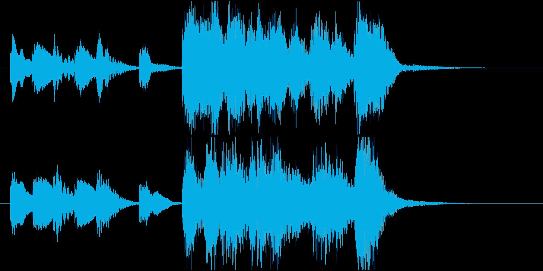 ほのぼの明るいアコースティック系ジングルの再生済みの波形