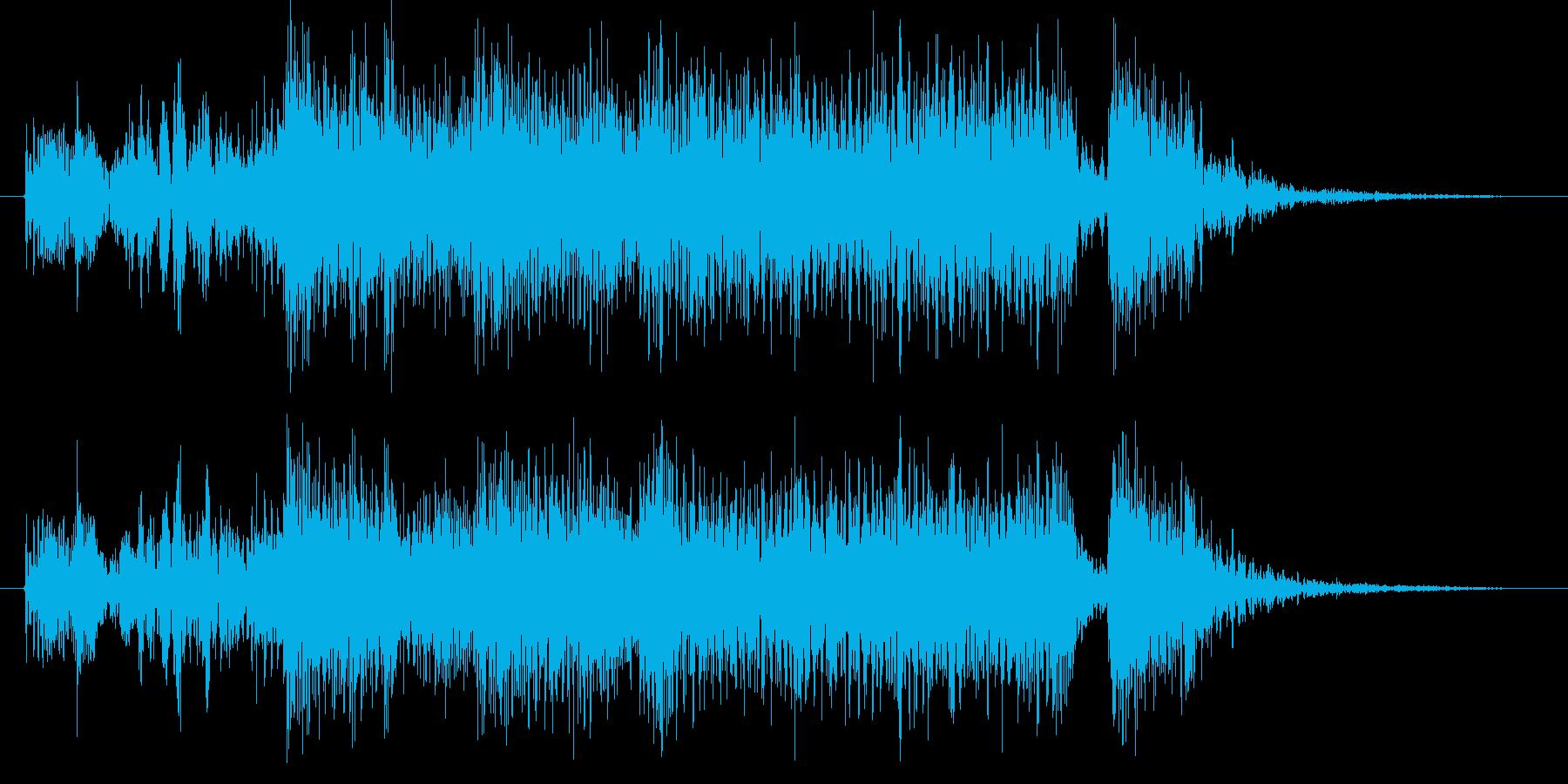 ホーンセクションとエレピのジングルの再生済みの波形