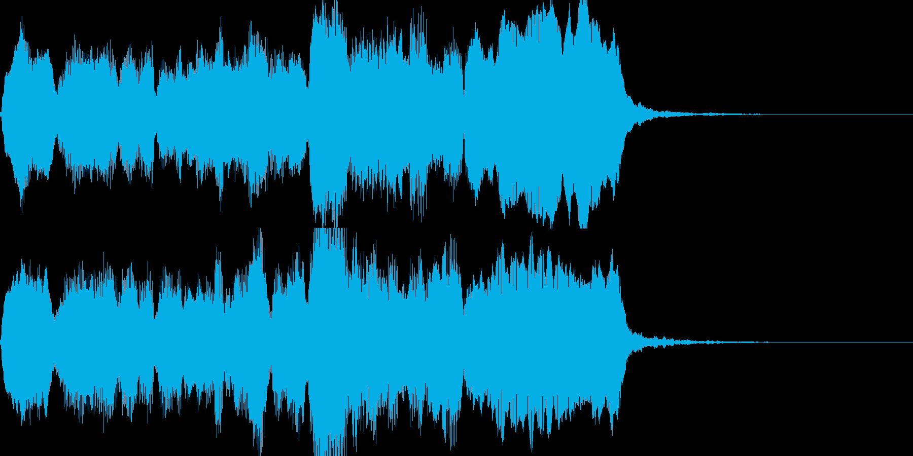 温かみのある穏やかなジングル素材の再生済みの波形