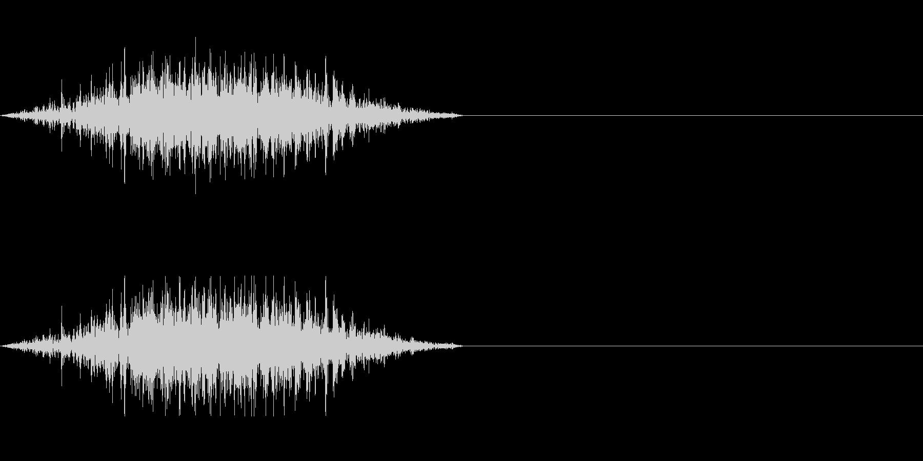 雑魚キャラの攻撃発声などにの未再生の波形