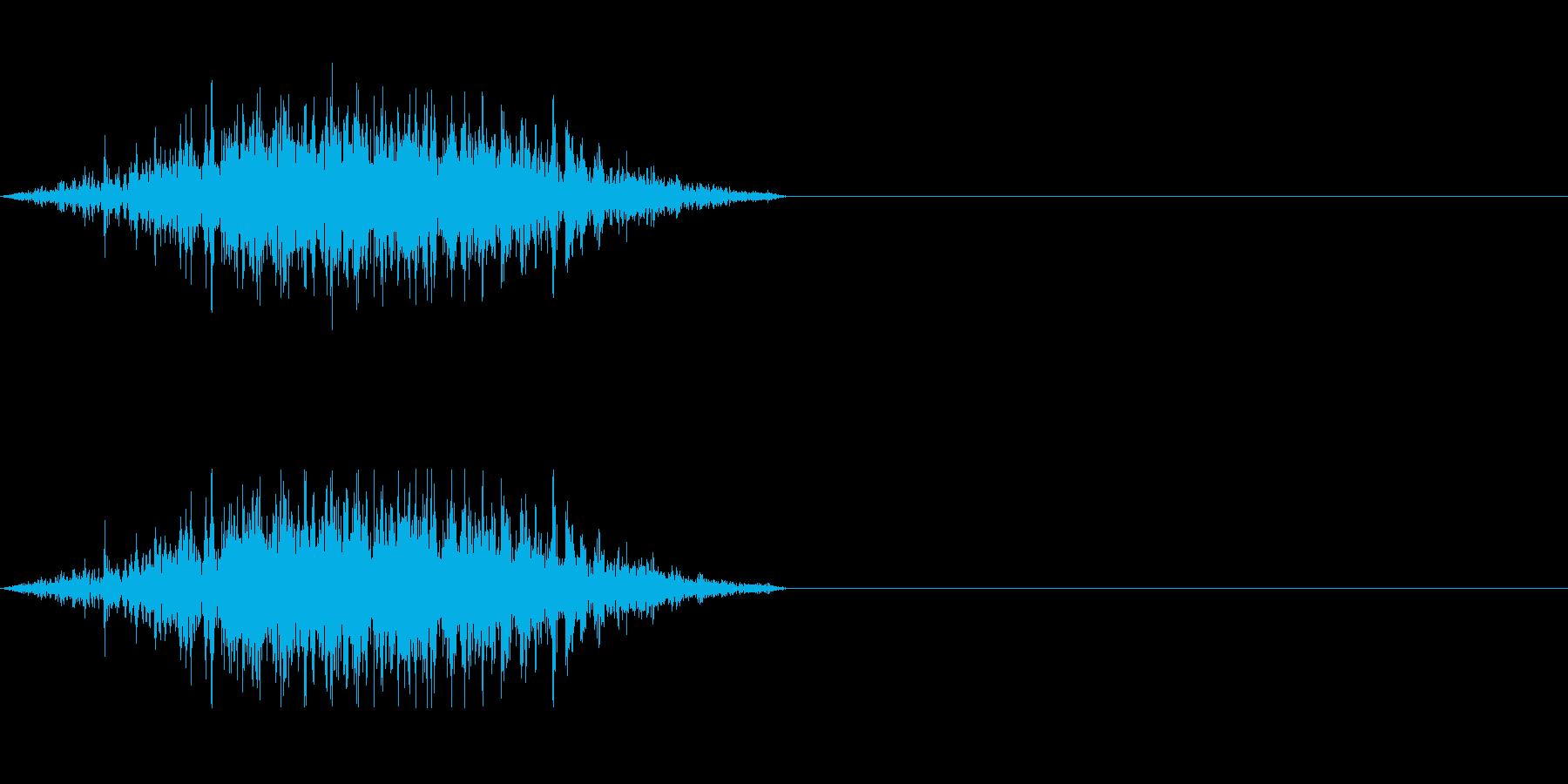 雑魚キャラの攻撃発声などにの再生済みの波形