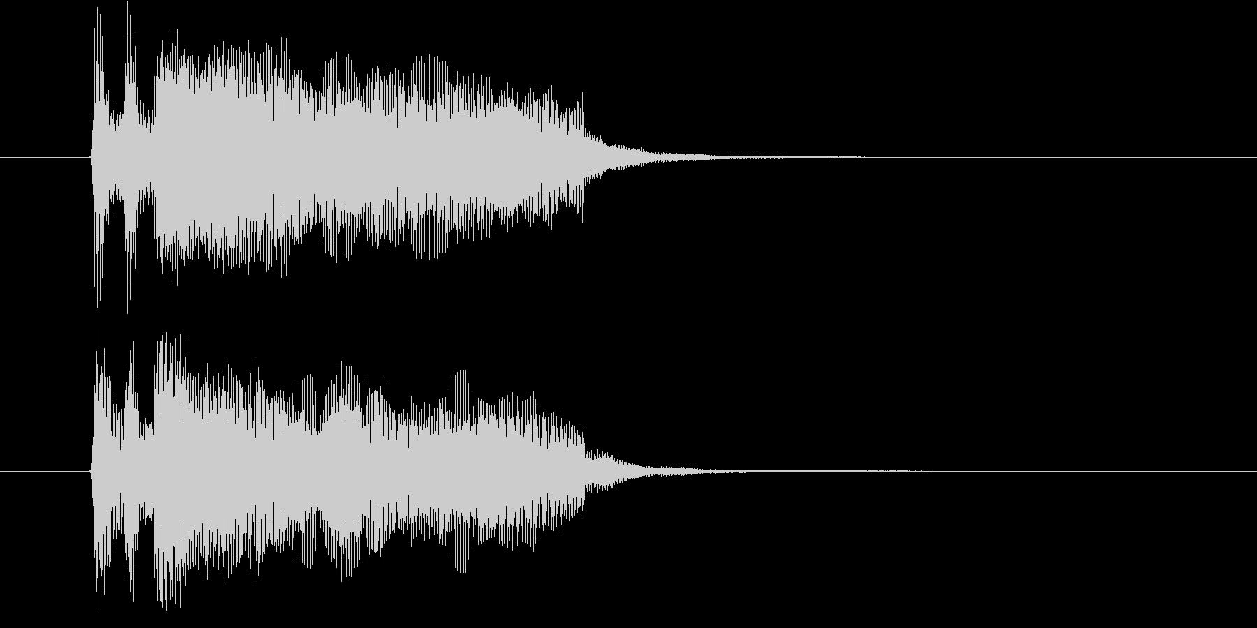 あっさりとシンプルなピアノジングルの未再生の波形