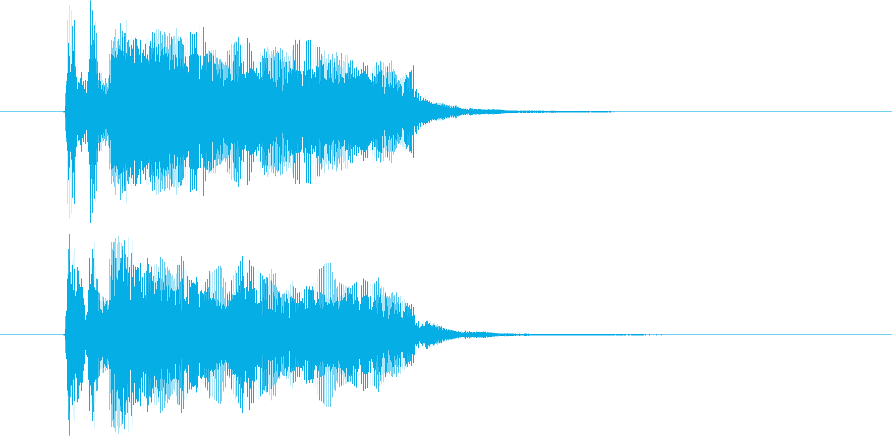 あっさりとシンプルなピアノジングルの再生済みの波形