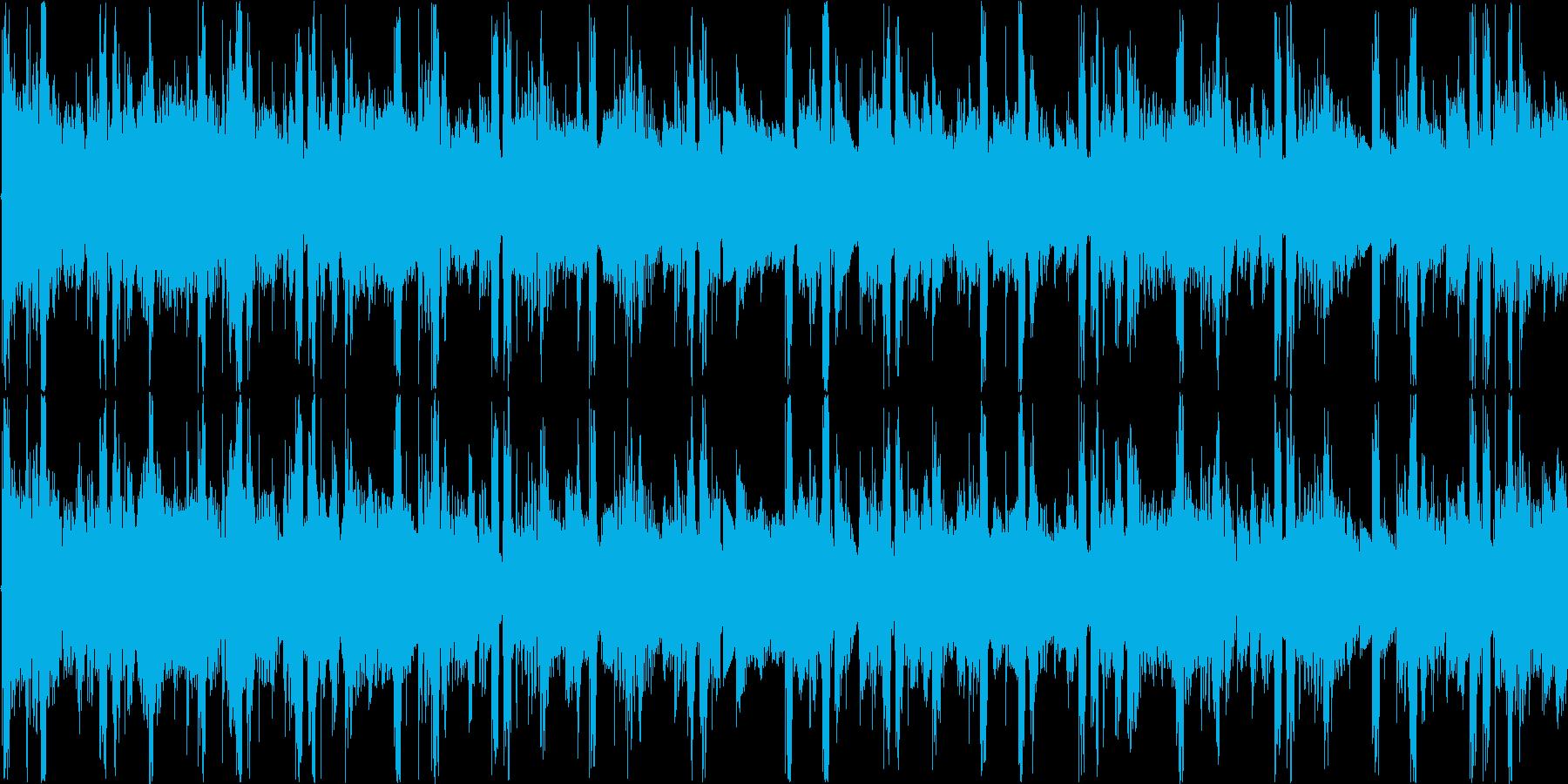 おしゃれでクールな雰囲気のテクノの再生済みの波形
