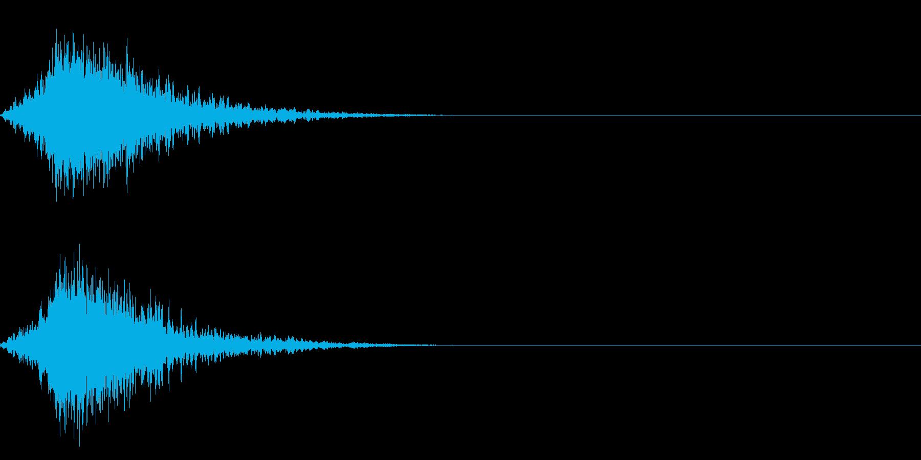 シャキーン(刀や剣、光、インパクト)2bの再生済みの波形