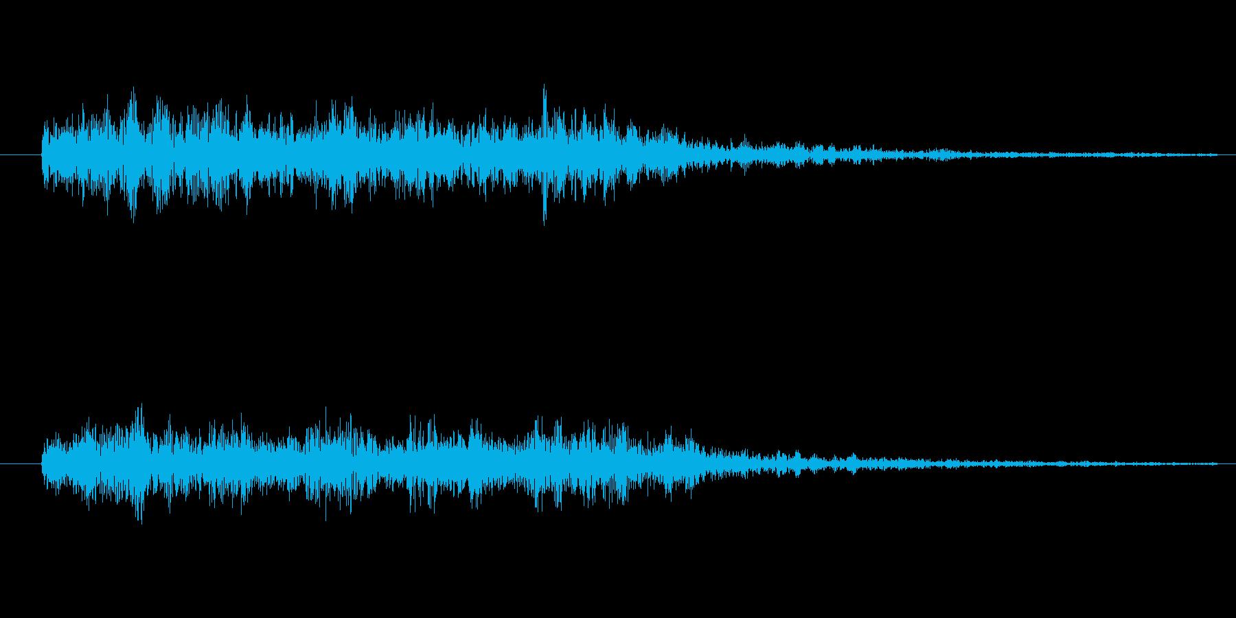 スネアロール_短い_リバーブありの再生済みの波形
