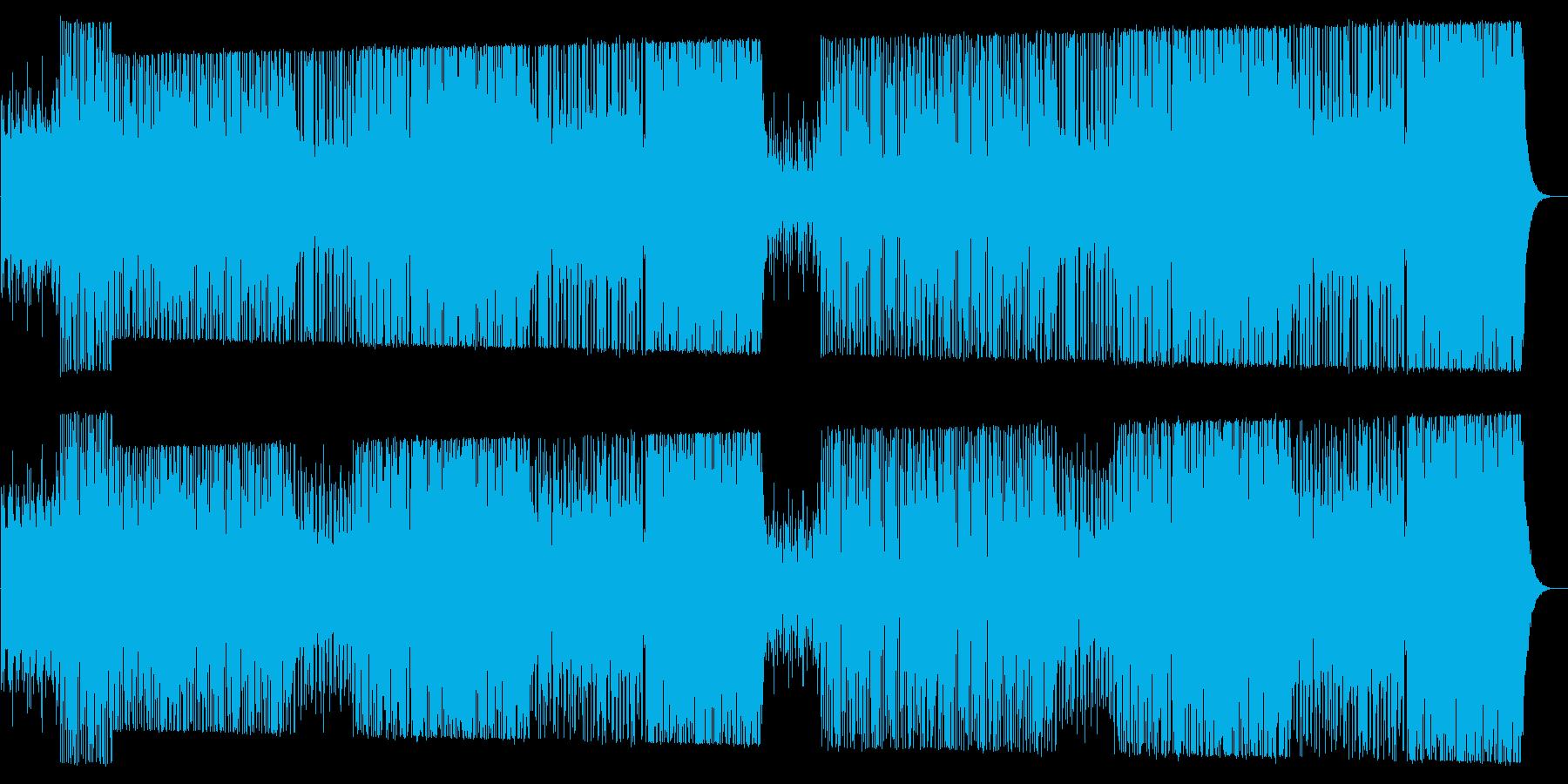 ワイルドでクールなテクノロックサウンドの再生済みの波形