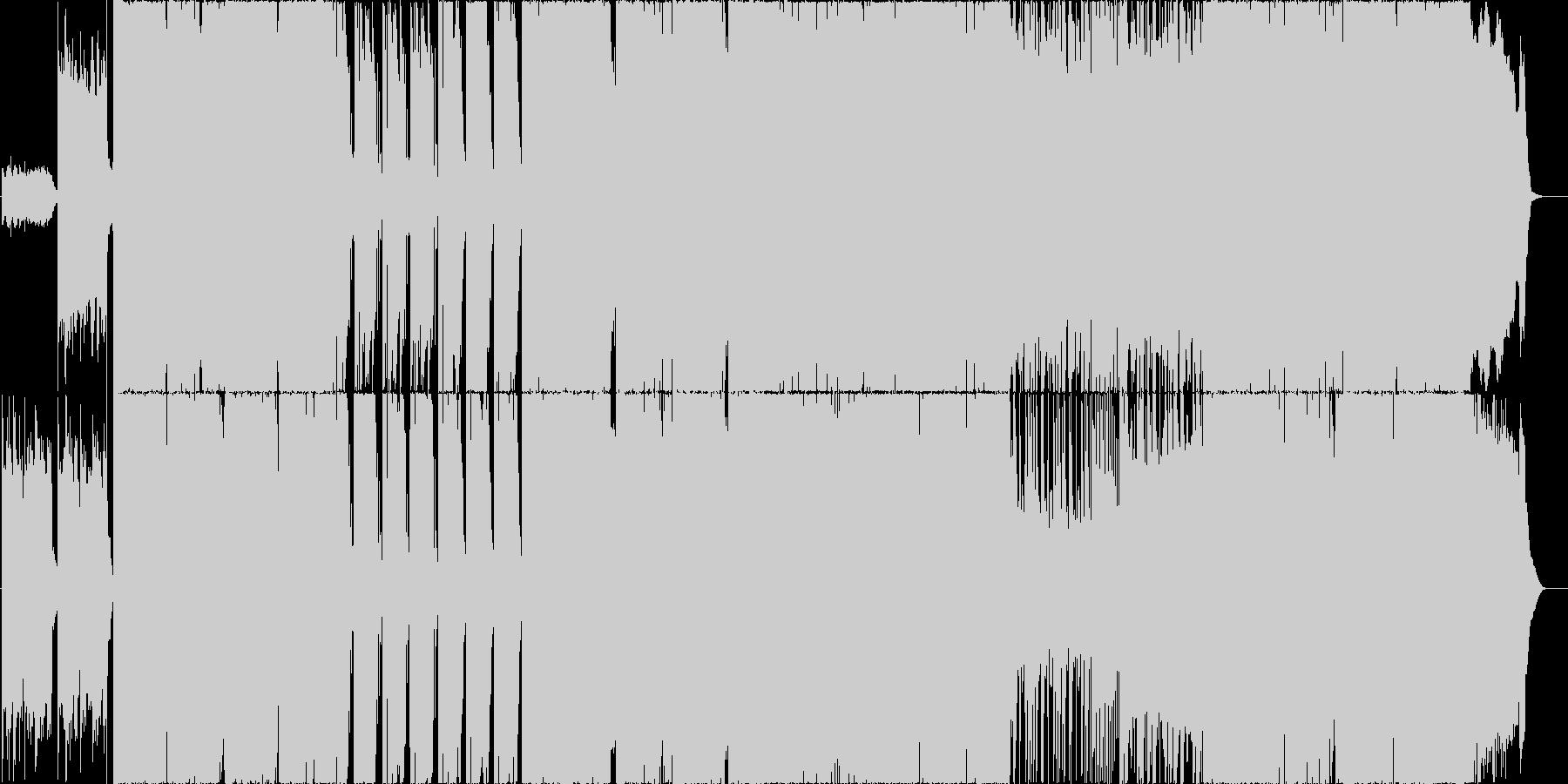 ハードロック風ギターインストの未再生の波形