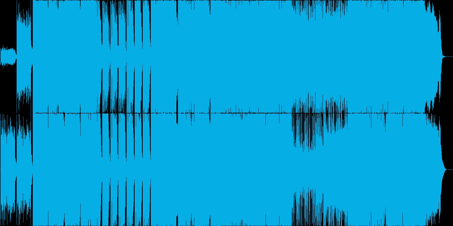ハードロック風ギターインストの再生済みの波形