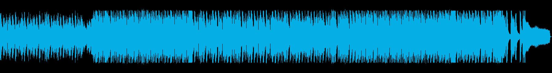 テンポが速いドラマティックなポップスの再生済みの波形