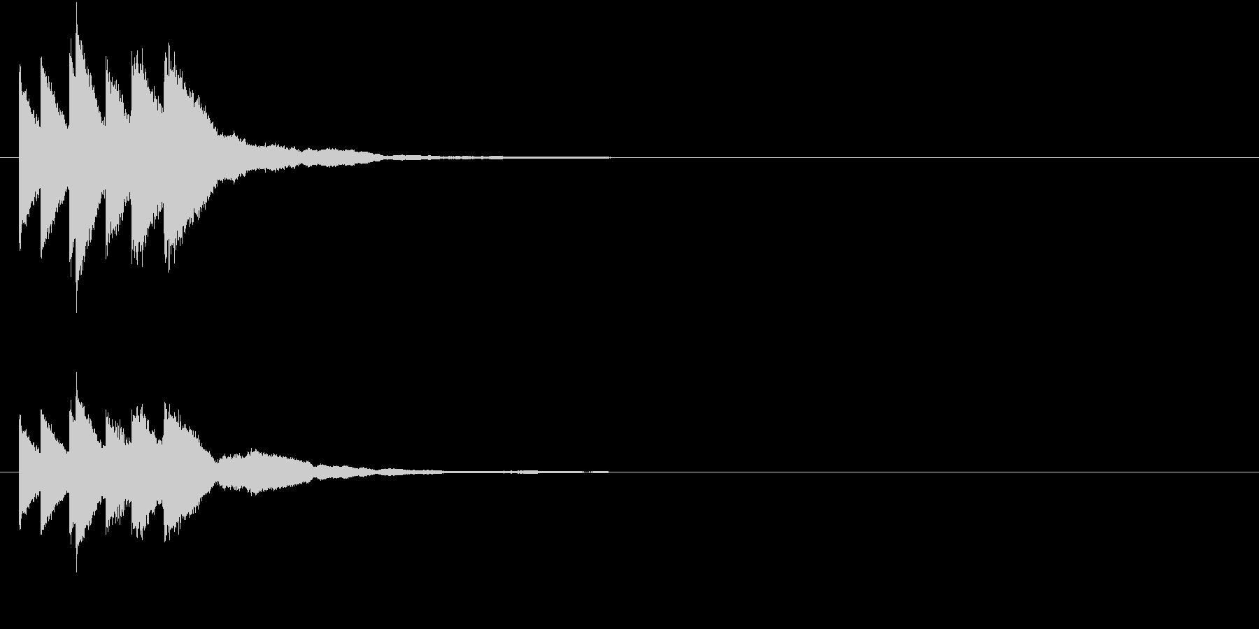 キラリン キラキラ 星 グロッケン の未再生の波形