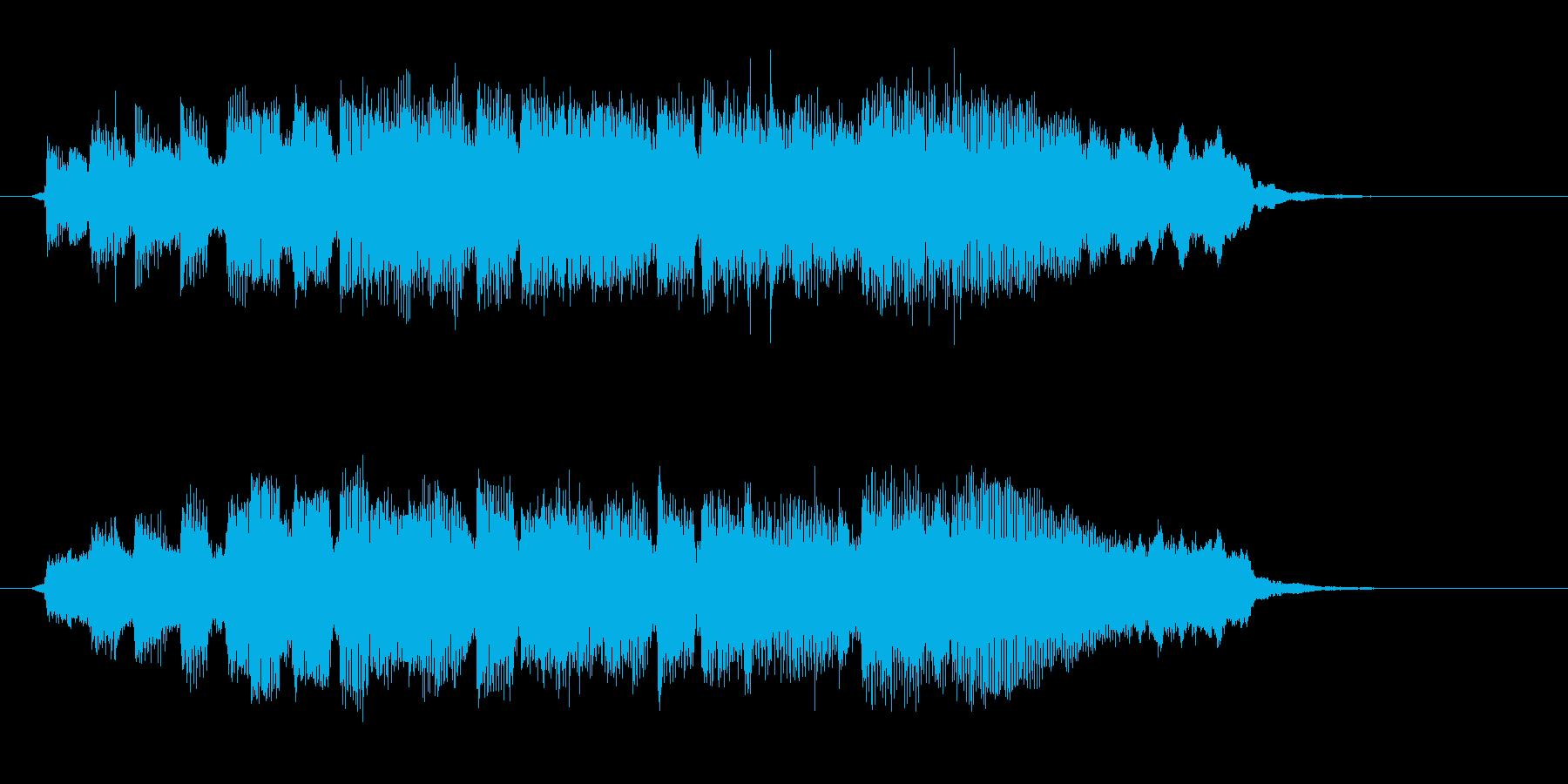リラックスムードのイージーリスニングの再生済みの波形