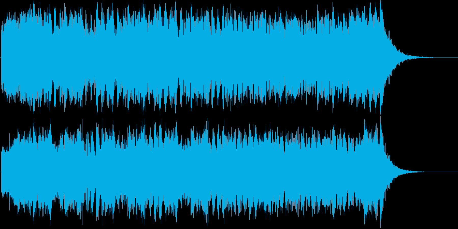 壮大で迫力あるフルオーケストラジングルの再生済みの波形