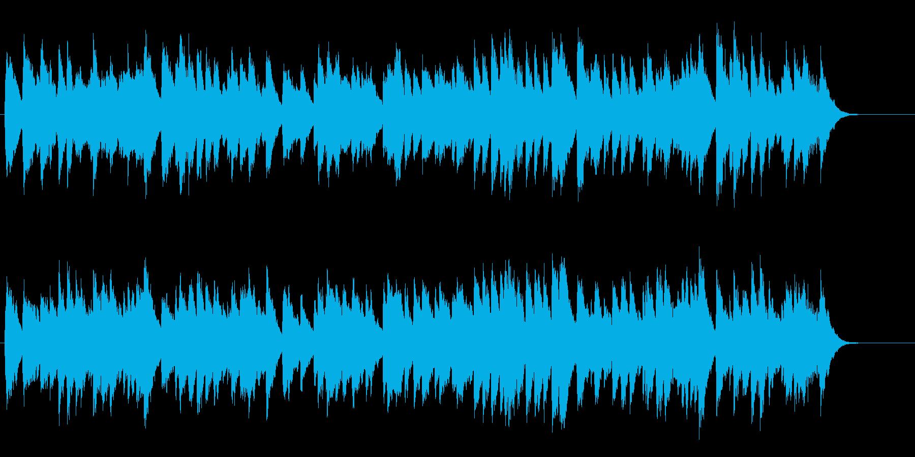 かわいいオルゴール風の結婚行進曲の再生済みの波形