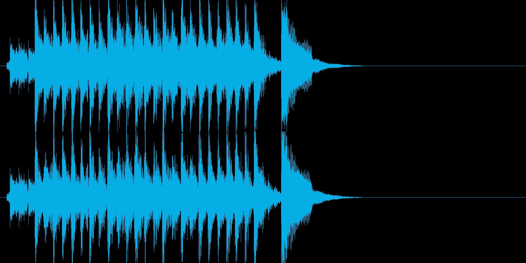 楽しい コミカル ほのぼの おちゃらけの再生済みの波形
