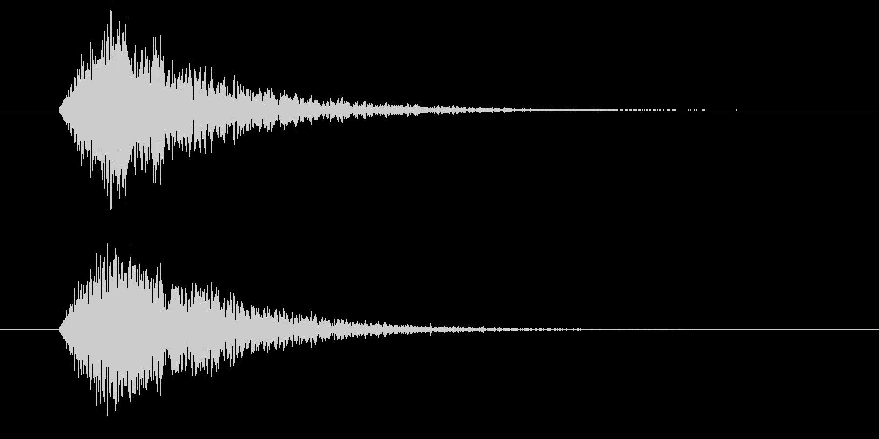 輝く・光属性魔法使用時の効果音(キーン)の未再生の波形
