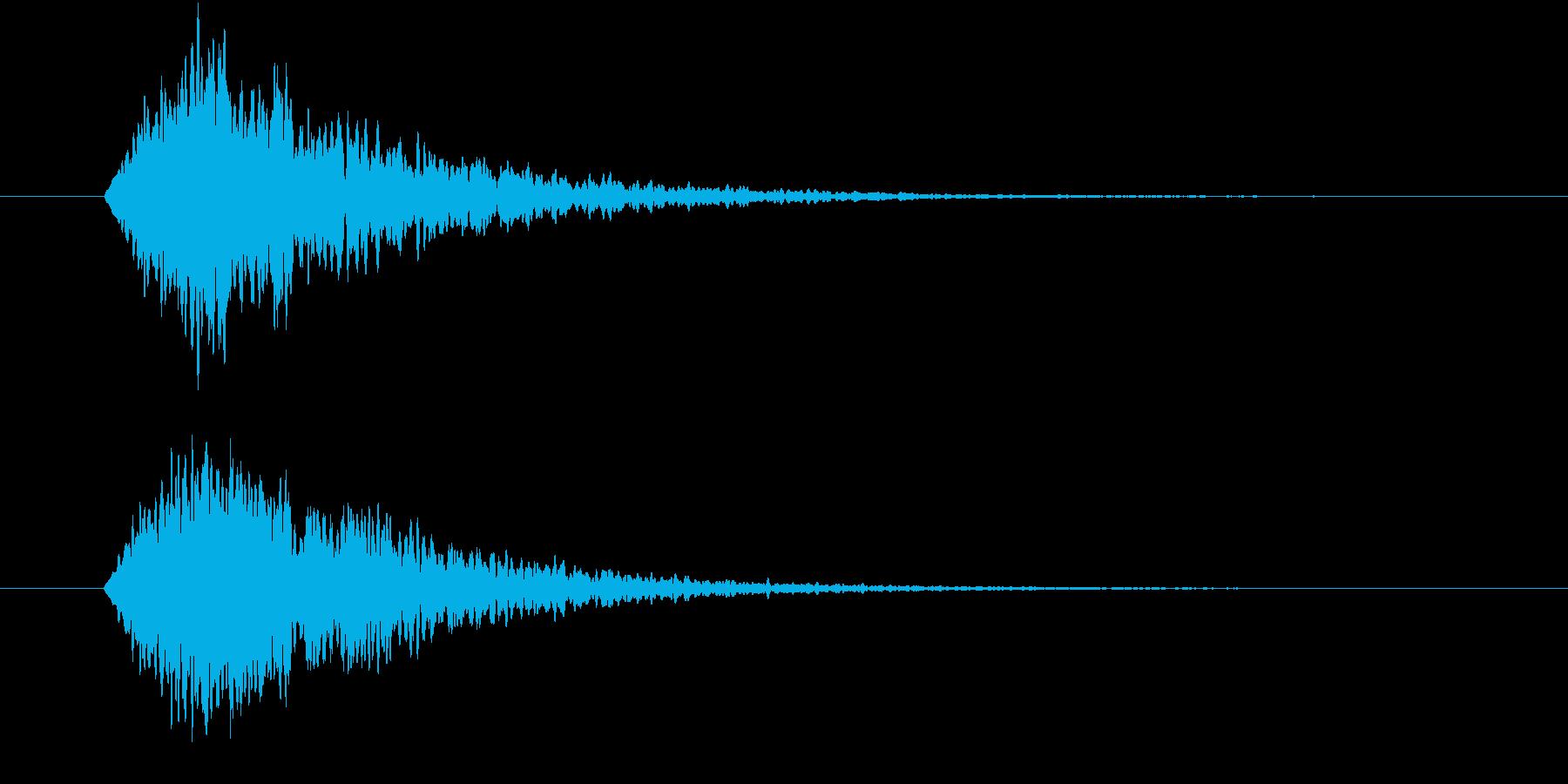 輝く・光属性魔法使用時の効果音(キーン)の再生済みの波形
