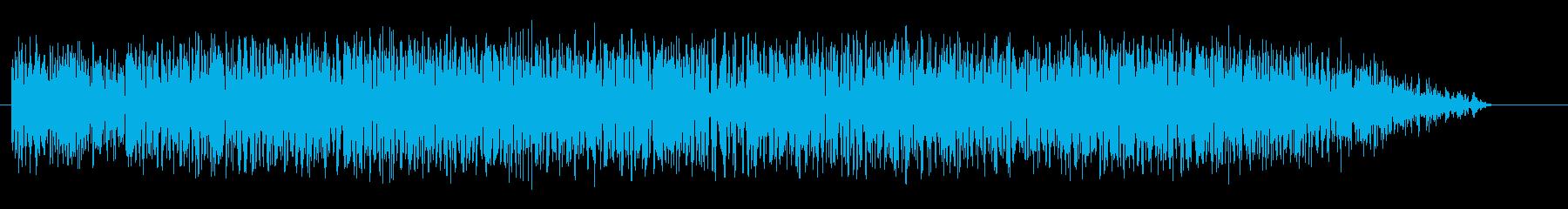 風が吹いている音の再生済みの波形