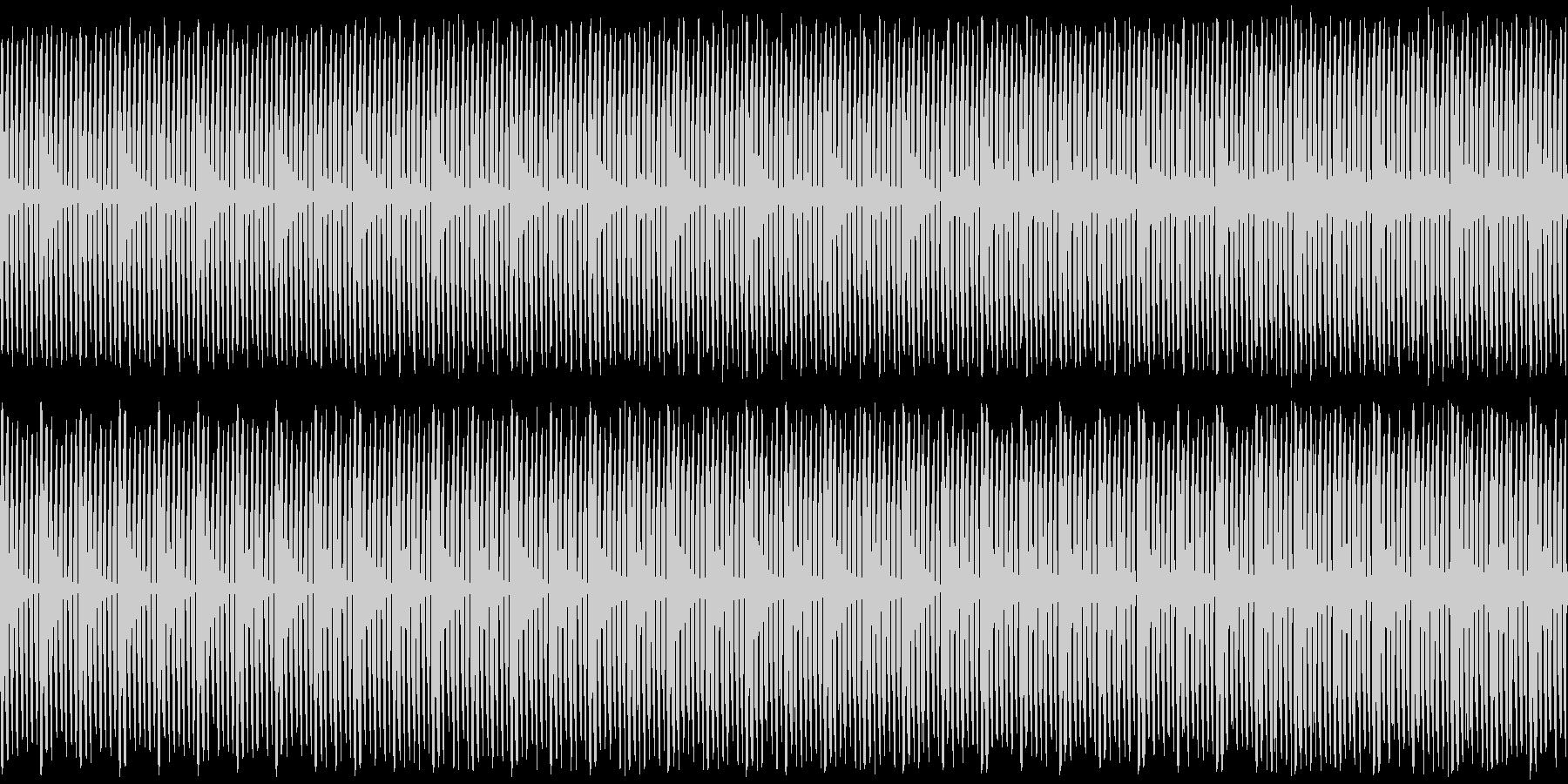 少し雨の降る夜のような緩やかなBGMの未再生の波形