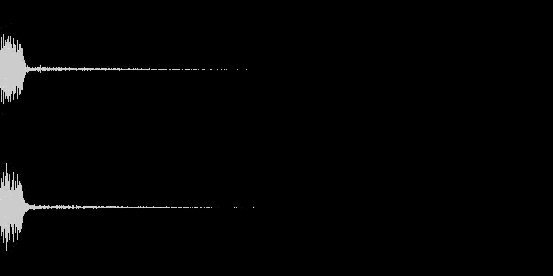 ボヨン4 弾力 ボール おしり の未再生の波形
