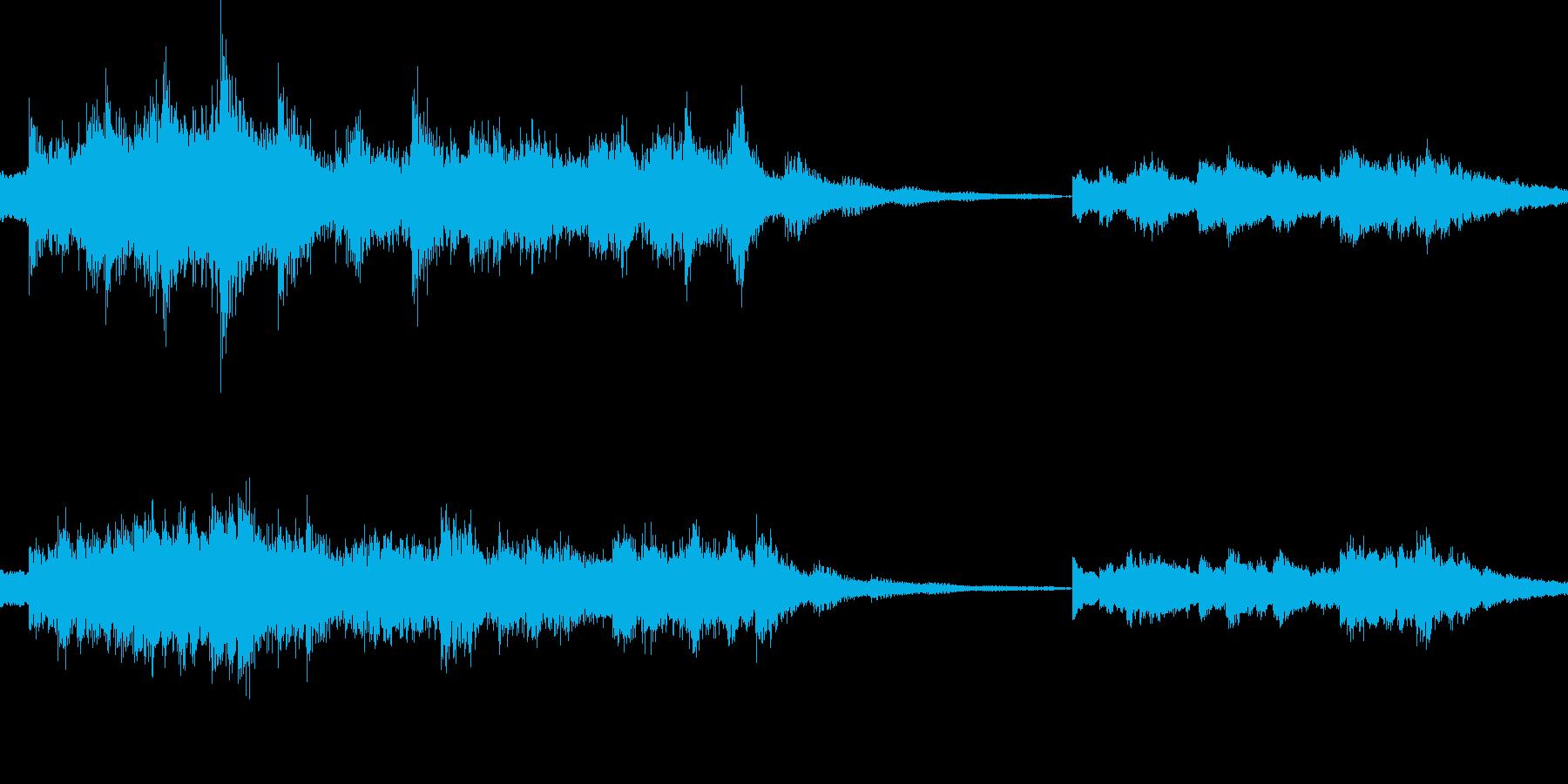 恐怖を感じさせる電子音響作品の再生済みの波形