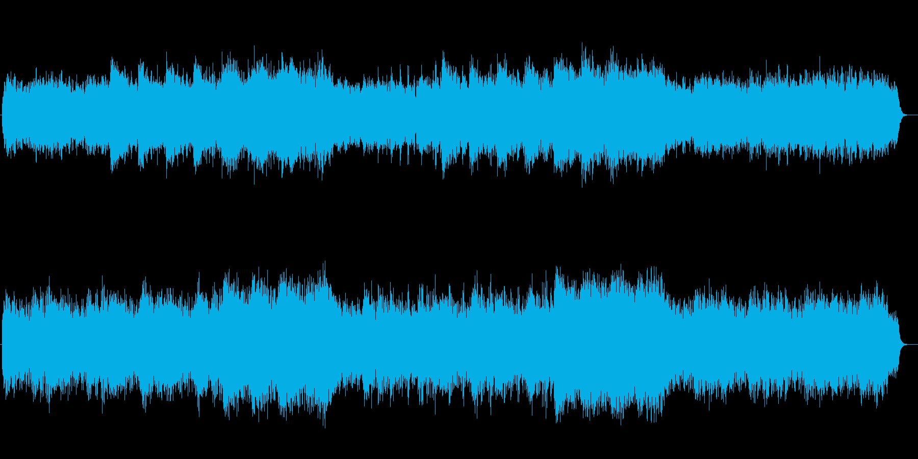 楽しい元気な気持ちになれる音楽の再生済みの波形