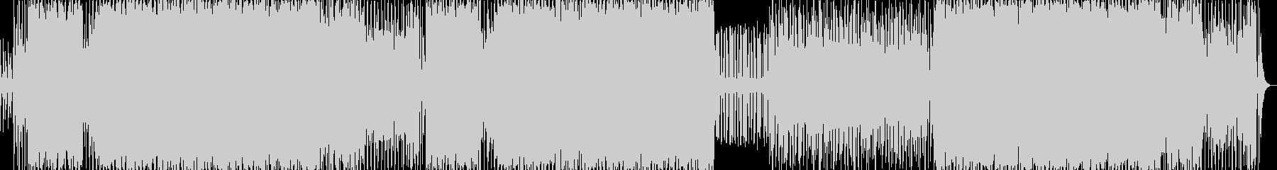 近未来的なサイバーバトルアクションBGMの未再生の波形