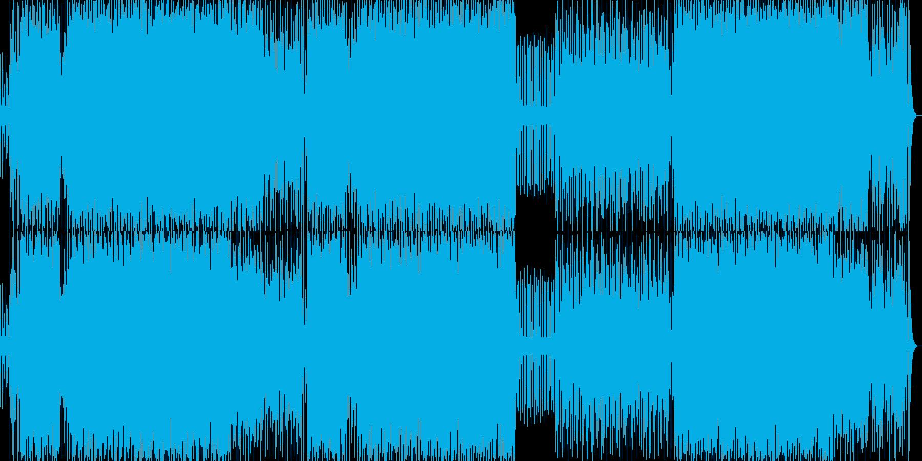 近未来的なサイバーバトルアクションBGMの再生済みの波形