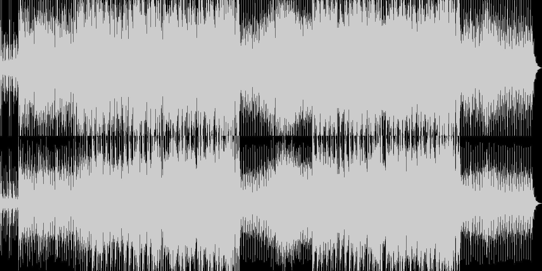 緊張感のあるデジロックの未再生の波形