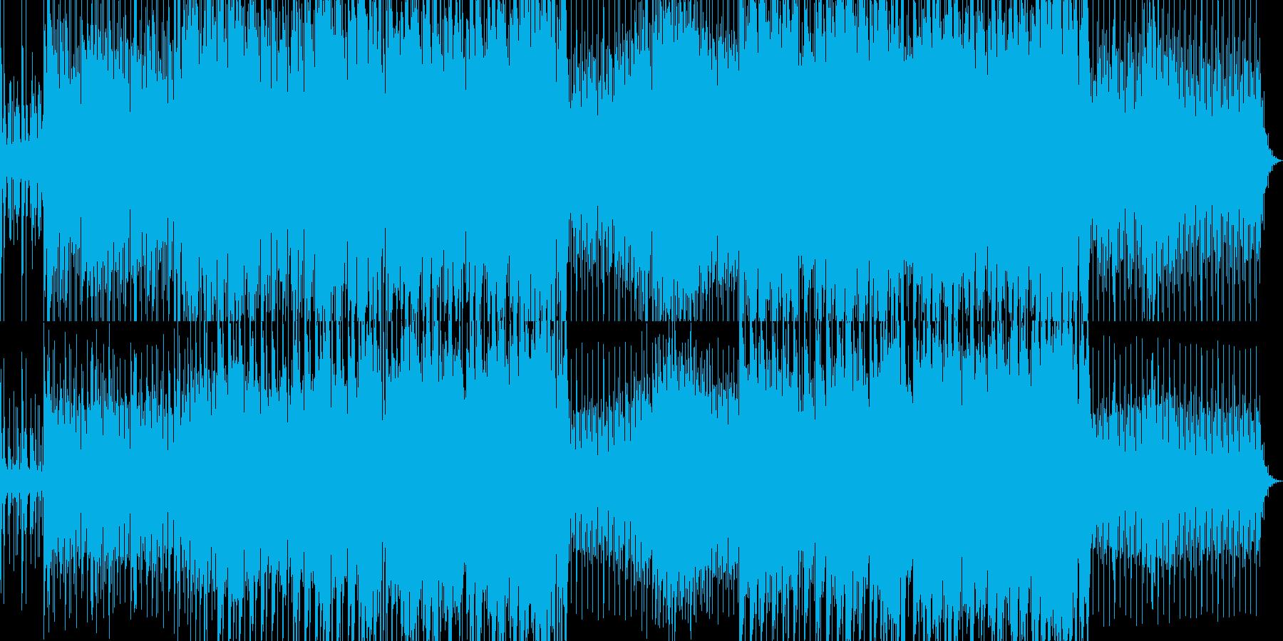 緊張感のあるデジロックの再生済みの波形