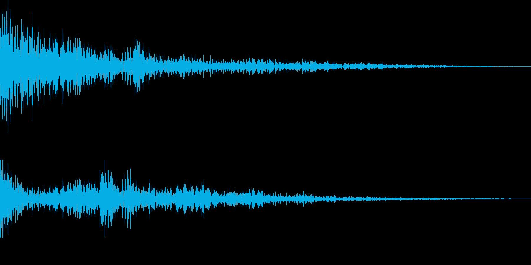 ブーン(拒否、失敗、ショック)の再生済みの波形