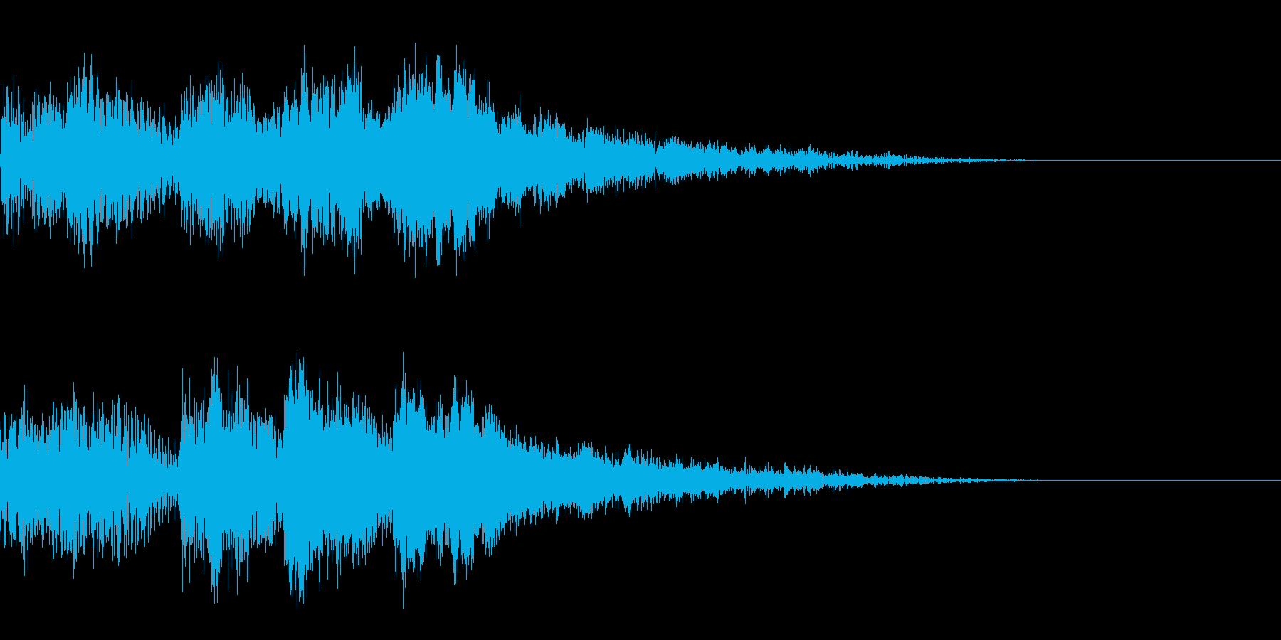 サウンドノベル02の再生済みの波形