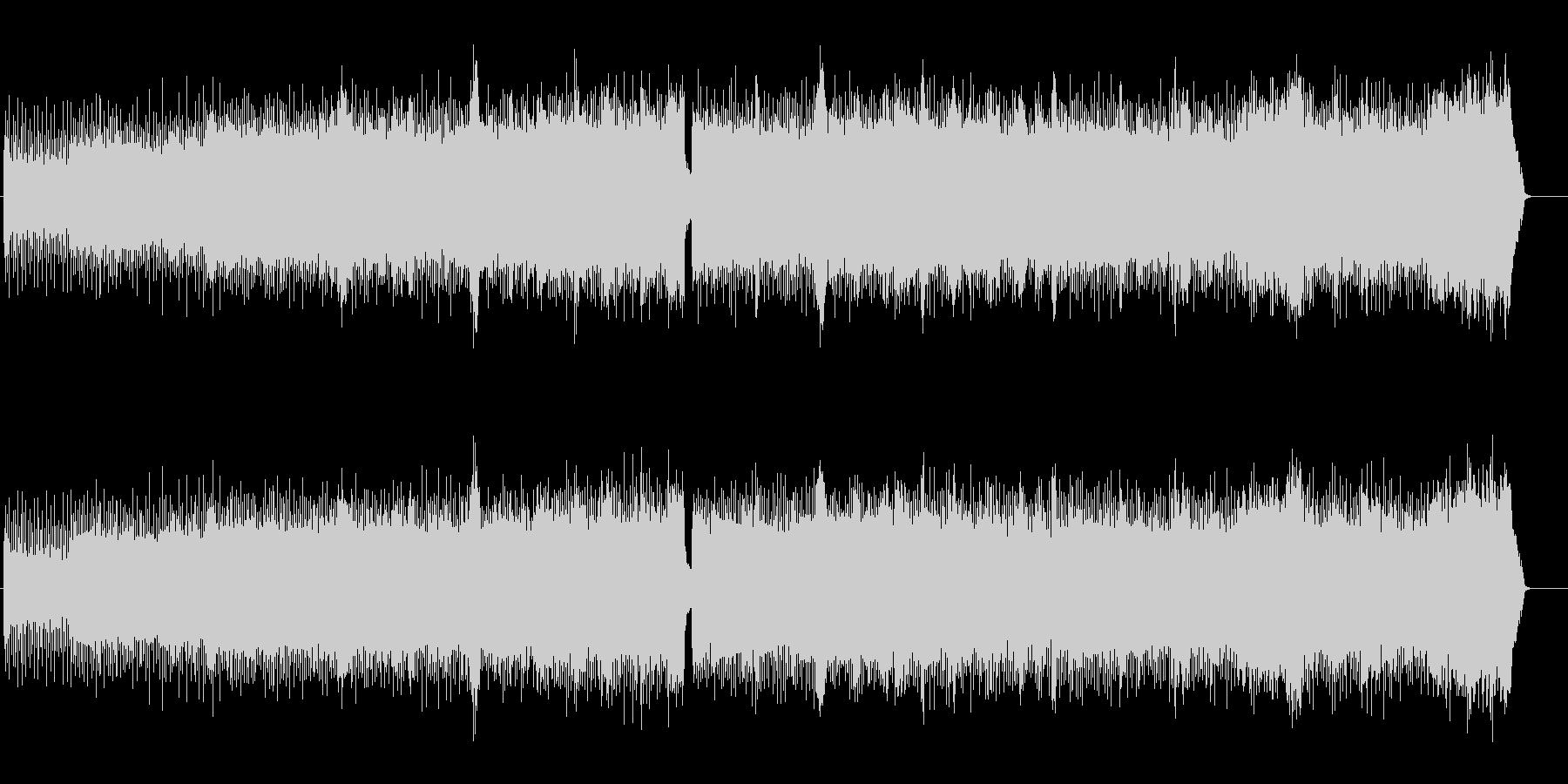 ヘヴィで疾走感のあるメタルBGMの未再生の波形