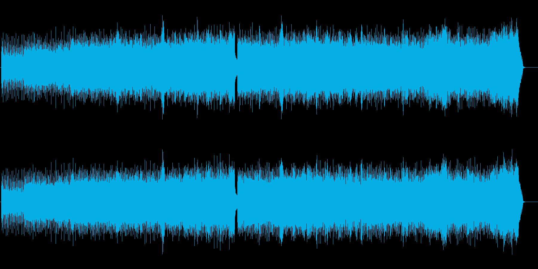 ヘヴィで疾走感のあるメタルBGMの再生済みの波形