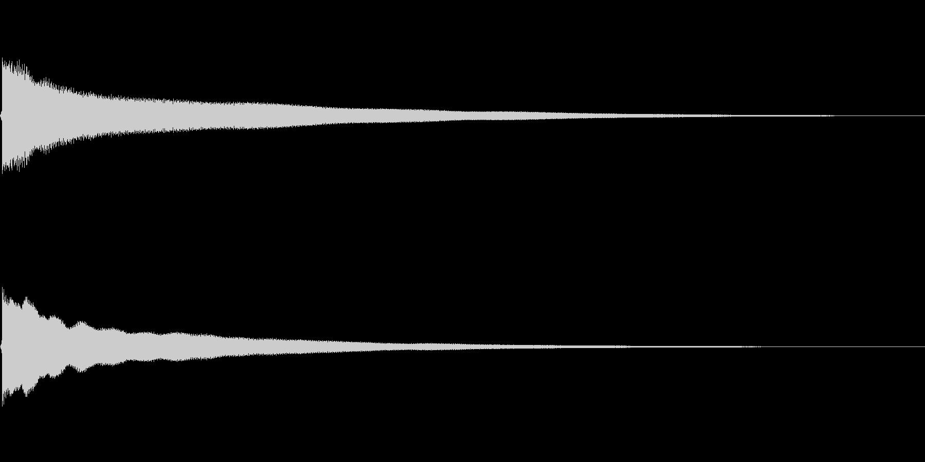 チーンと意気消沈の未再生の波形