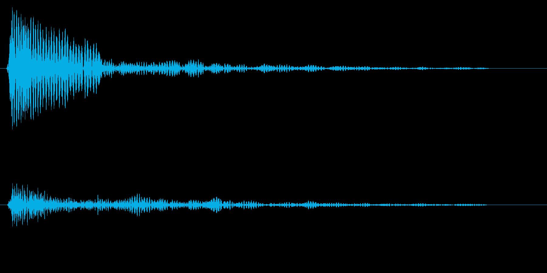 ドーンというタムタムの音の再生済みの波形