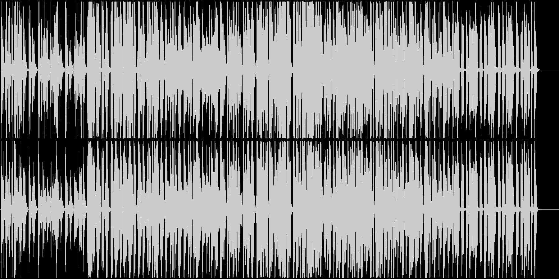 ストリングスとクラリネットのかわいい曲の未再生の波形