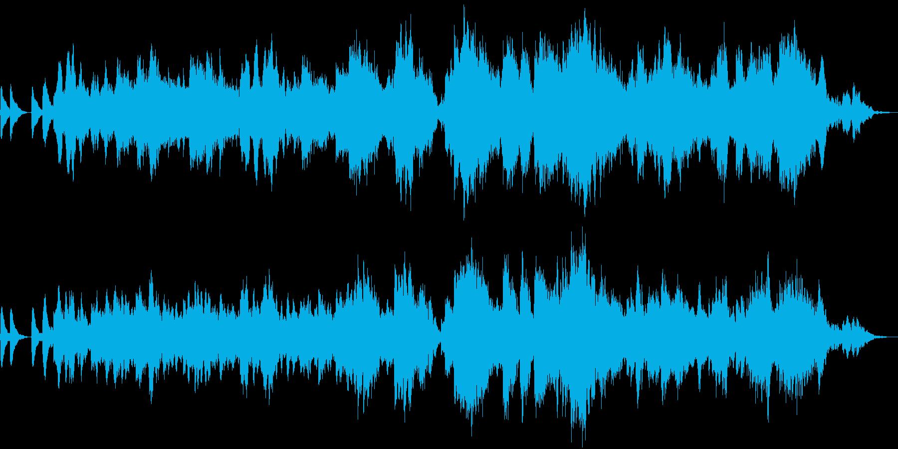 暗くダークでミステリアスなアンビエントの再生済みの波形