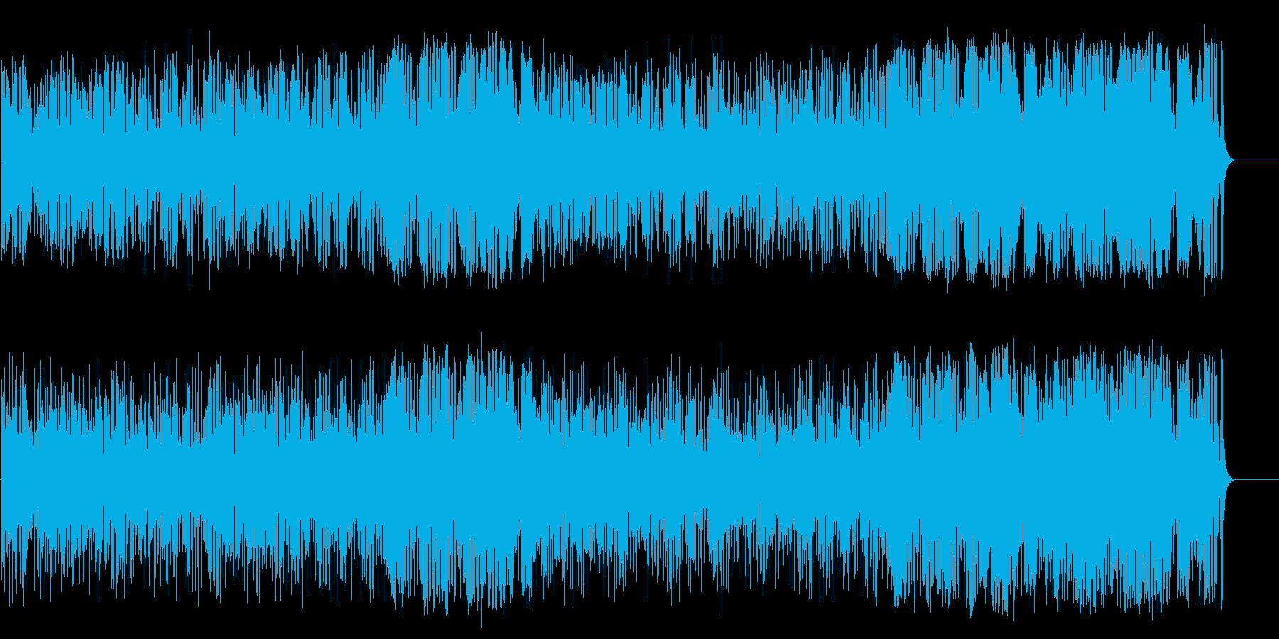 店内BG向けの陽気なラテンポップの再生済みの波形