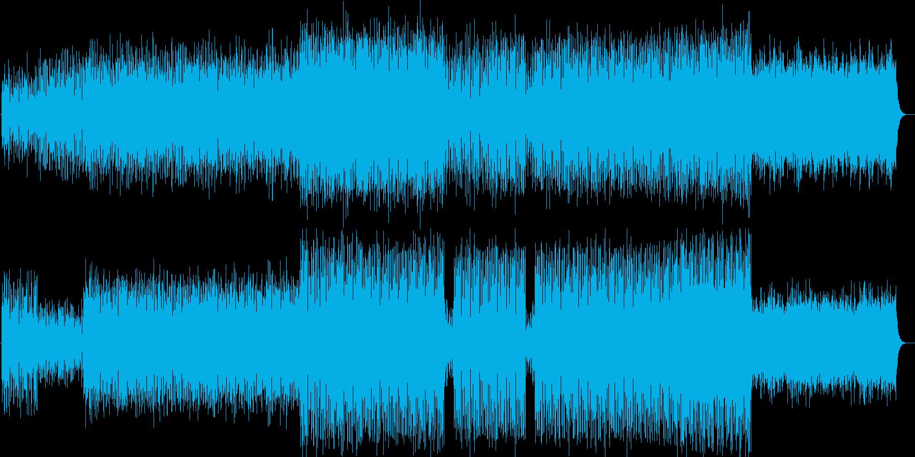 シリアスどきどき感シンセテクノポップの再生済みの波形