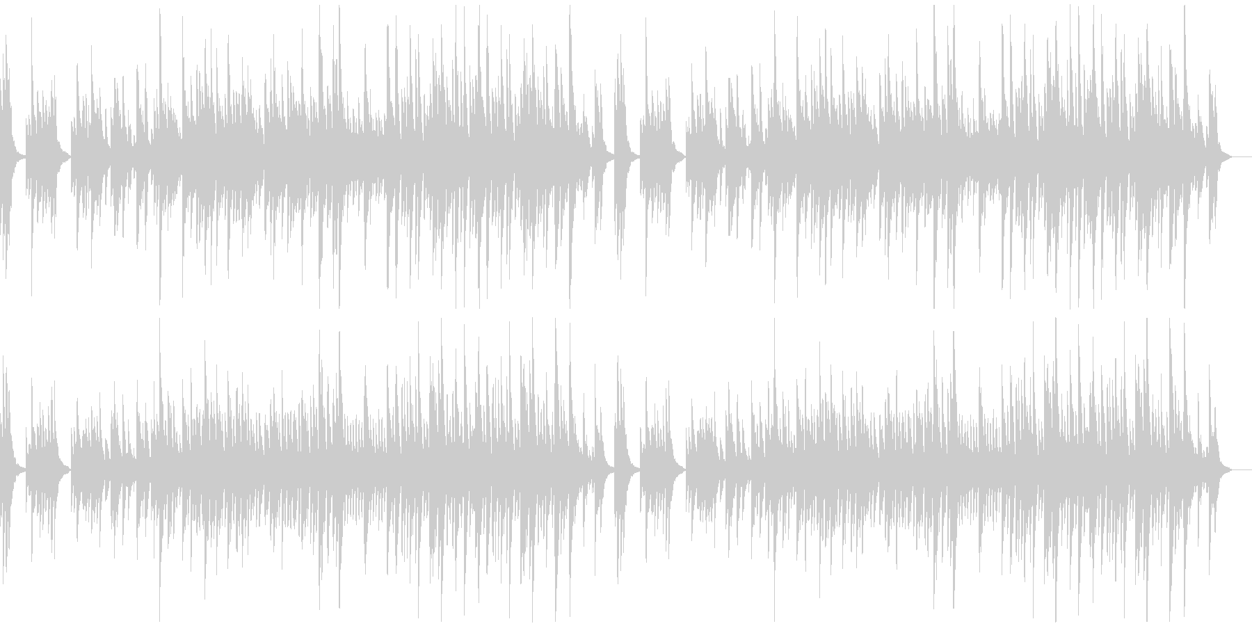 とてもゆっくりで静かなソロ・ピアノ曲の未再生の波形