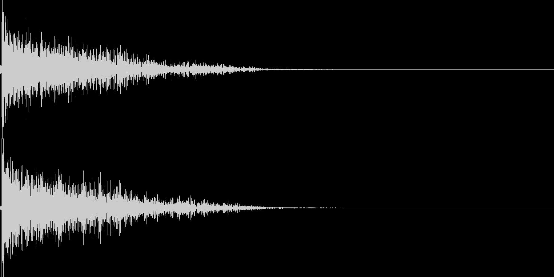 弾丸を発射する音の未再生の波形