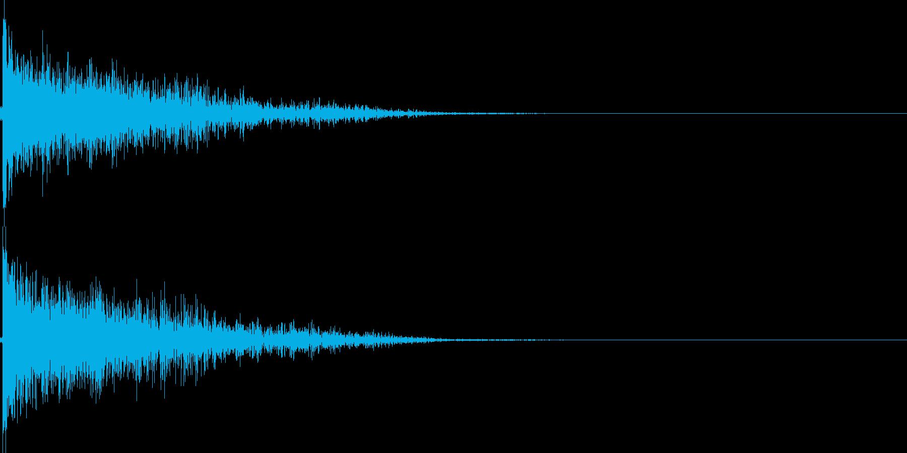 弾丸を発射する音の再生済みの波形