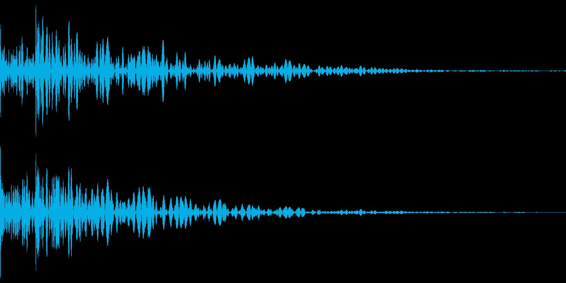 ドドン(和太鼓)の再生済みの波形