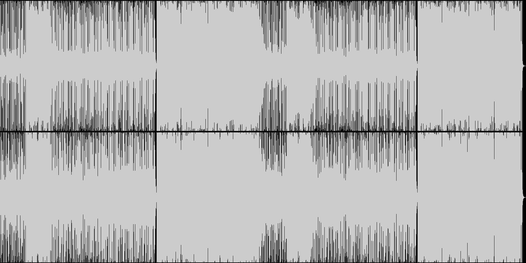 軽快なディスコの未再生の波形