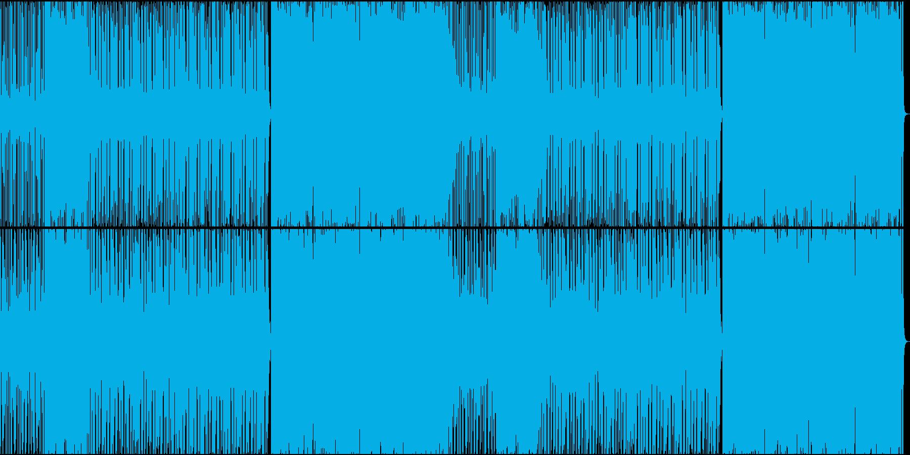 軽快なディスコの再生済みの波形