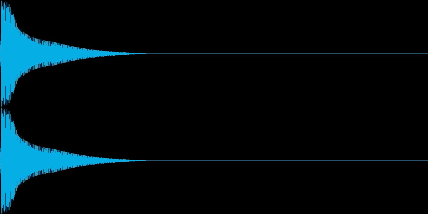 PureTouch アプリ用タッチ音 9の再生済みの波形